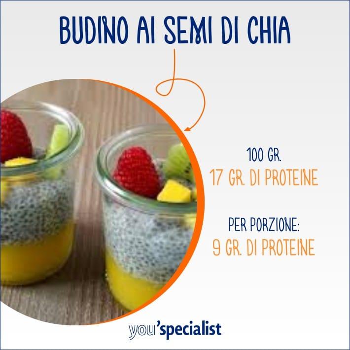 snack salutari e proteici pudding
