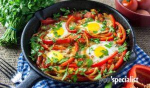 uova con peperoni