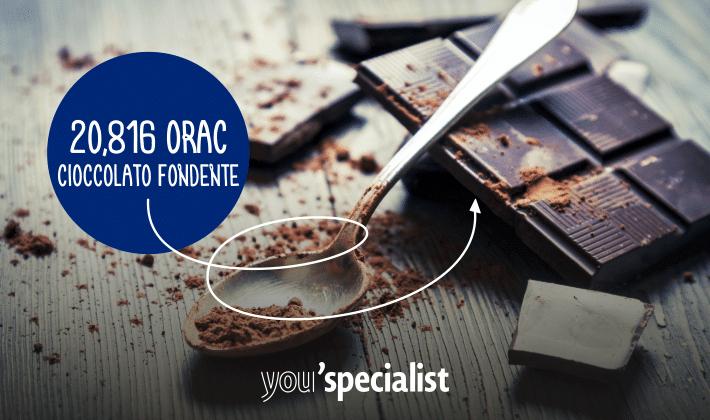 top antiossidanti: il cioccolato