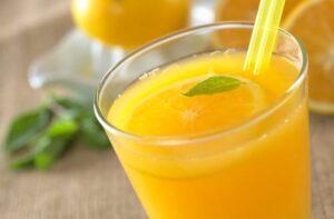 Succo d'arancia e olio di lino