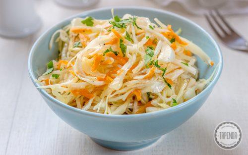 Insalata_di_Verza agrodolce con cipolla e carota