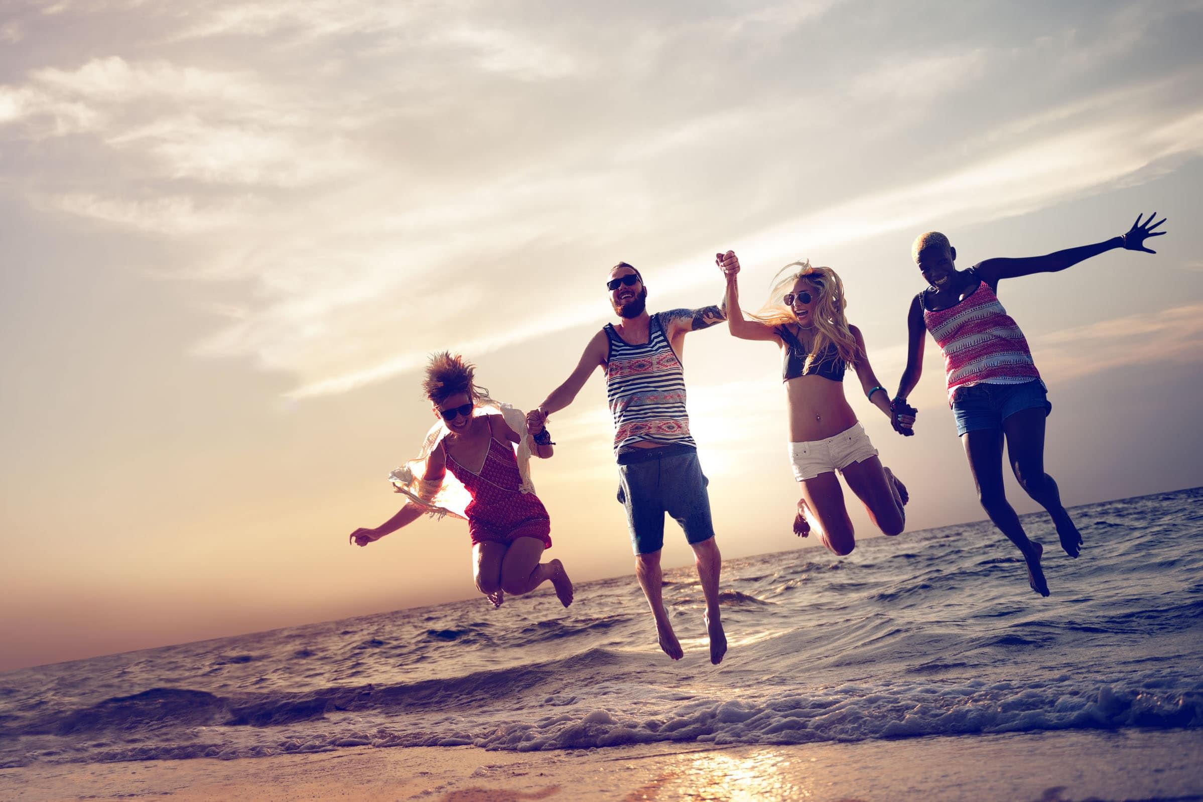 benessere emotivo: persone positive